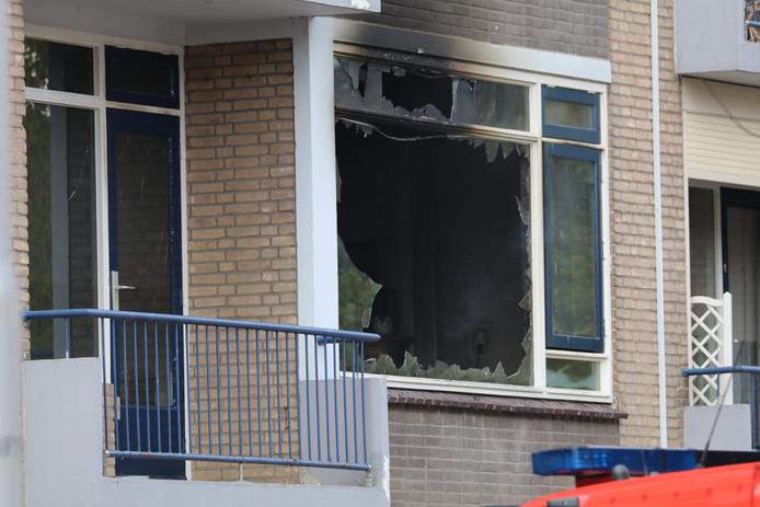 woningbrand aan de Johannes Poststraat in Gouda