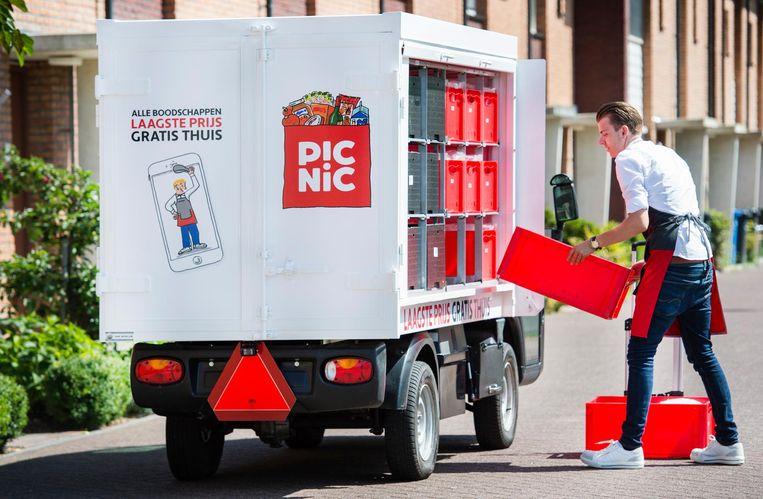 Picnic opende de aanval op gevestigde supermarkten als Albert Heijn en Jumbo.  Beeld ANP Kippa