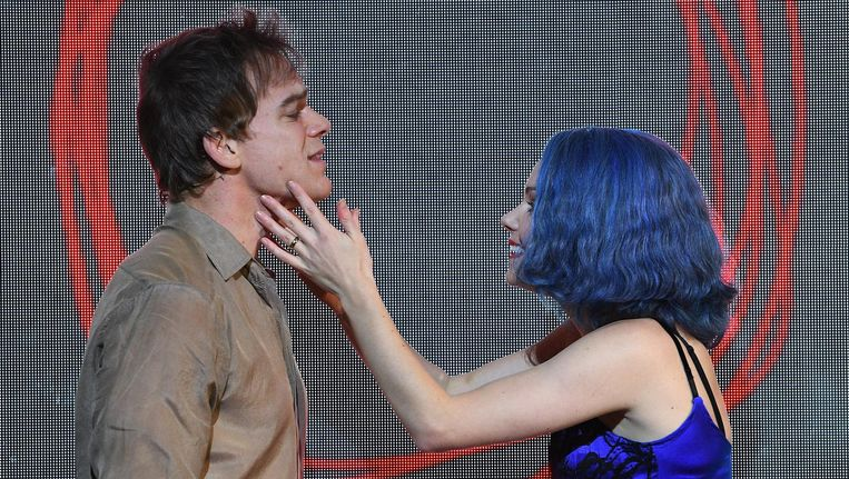 Michael C. Hall en Amy Lennox in Kings Cross Theatre, London Beeld anp