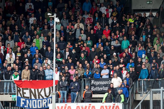Bij de vorige editie van Willem II - Feyenoord op 2 oktober 2016 was de belangstelling van de kant van de fans van de Rotterdamse club groter.