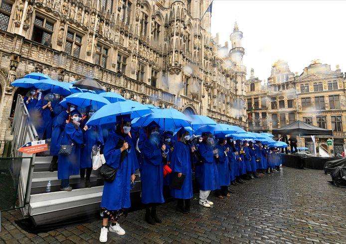 Cérémonie de ce lundi sur la Grand-Place de Bruxelles