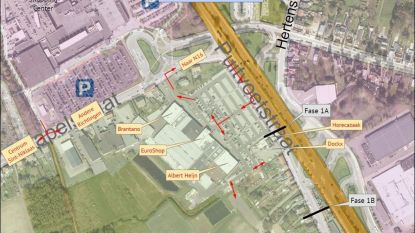 Rioleringswerken Puitvoetstraat zorgen voor verkeersproblemen op parking van Euroshop