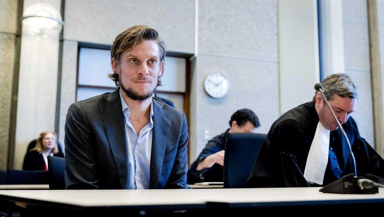 Auteur Thijs Zonneveld op 5 januari in de rechtbank Beeld ANP