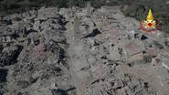Dronebeelden tonen schade nieuwe aardbeving Italië