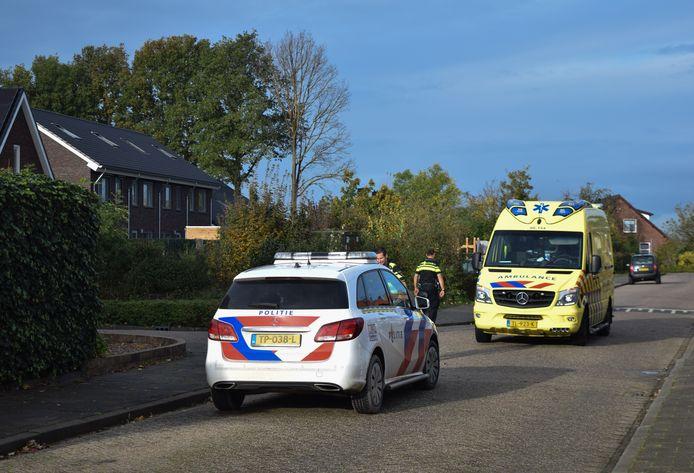 De hulpdiensten ter plaatse op de plaats van het ongeluk in Kilder.