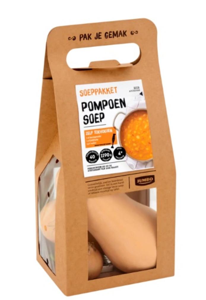 Het verspakket van Jumbo om pompoensoep te maken.