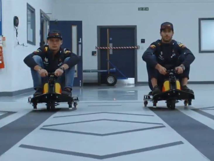 Verstappen en Ricciardo racen óveral op