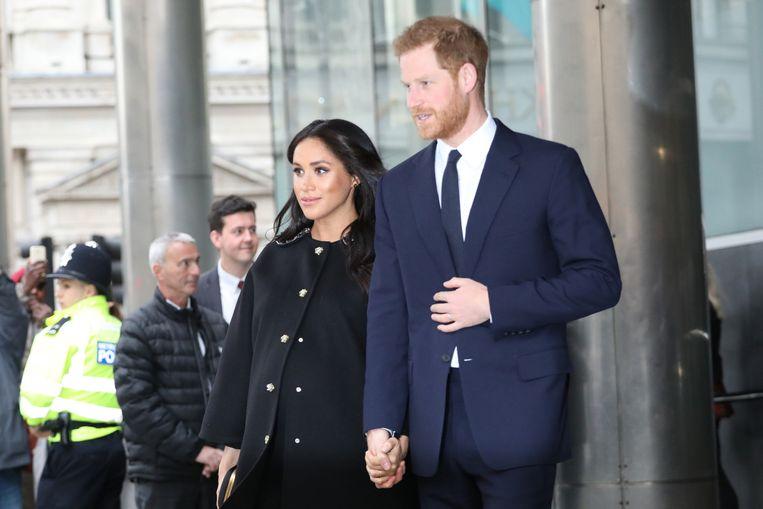 Meghan Markle en Prince Harry in Londen.