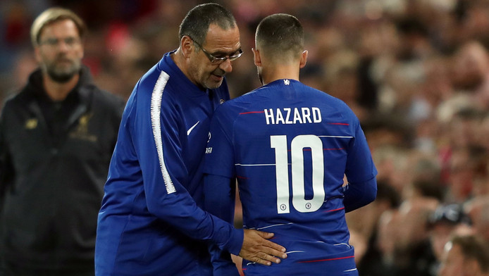 Maurizio Sarri espère qu'Eden Hazard va prolonger son contrat avec Chelsea