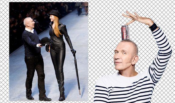 Jean Paul Gaultier tijdens een modeshow voor Hermès tijdens Paris Fashion Week in 2010 - campagnebeeld voor Cola.