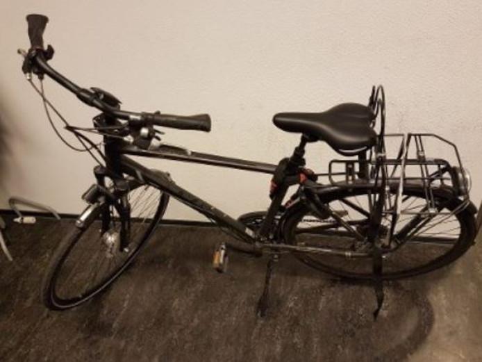 Eén van de gestolen fietsen die teruggevonden is.