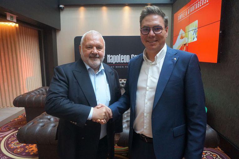Burgemeester Jean-Marie Dedecker en TomDe Clercq, CEO van Napoleon Sports & Casino