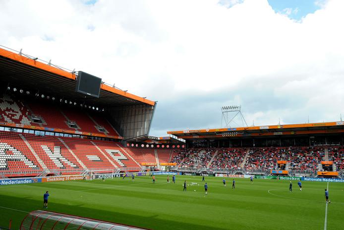 Training Nederlands elftal in de Grolsch Veste (stadion FC Twente) op de voormiddag van de wedstrijd Nederland-Japan in 2009