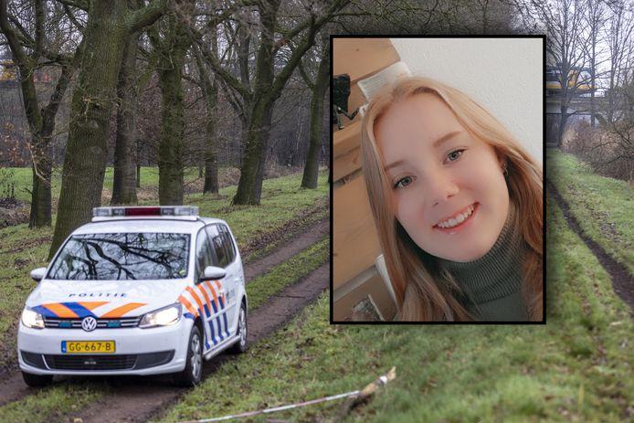 De politie bewaakte maandag de zandweg naar de plek waar Lotte werd gevonden.