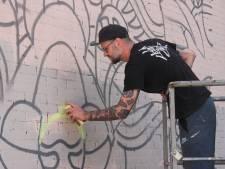 Beroemde streetart oud-Udenaar nu ook te zien op muur Udens College