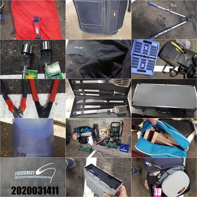 In Schijndel is een verdachte aangehouden met een auto vol gestolen spullen.