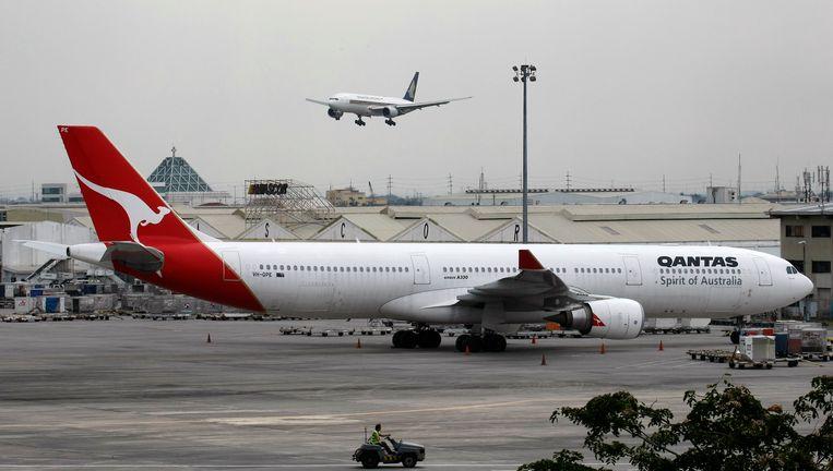 Een Airbus A-330 van de Australische luchtvaartmaatschappij Qantas Airlines in 2011.