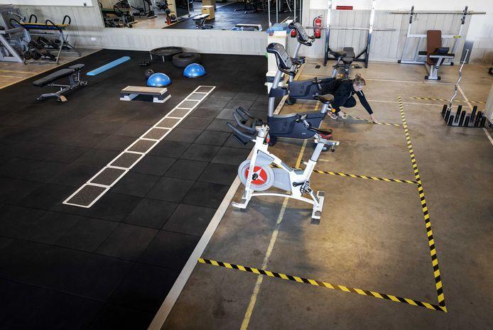 Een sportschool met coronamaatregelen, niet de sportschool in Ootmarsum.