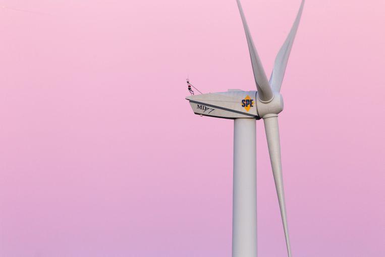 Een windturbine.