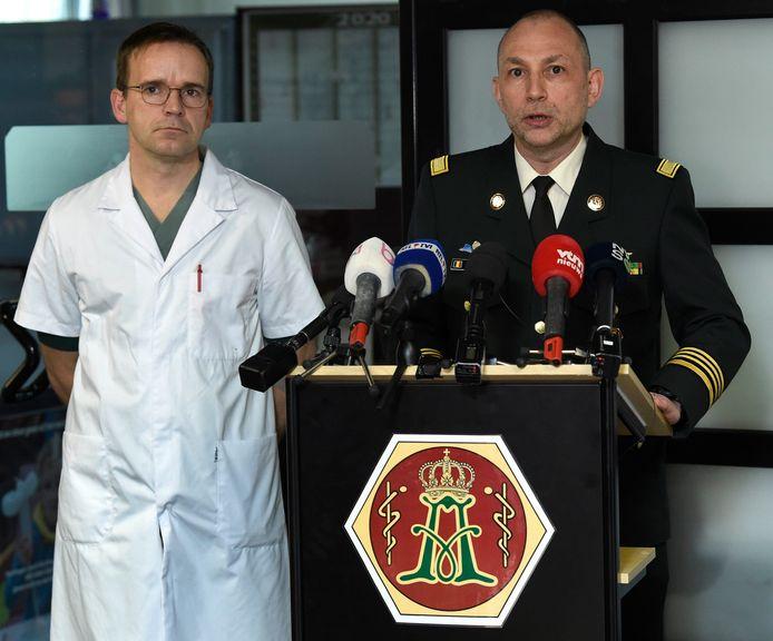Hôpital Militaire Reine Astrid : conférence de presse de la Défense sur le Coronavirus Covid-19