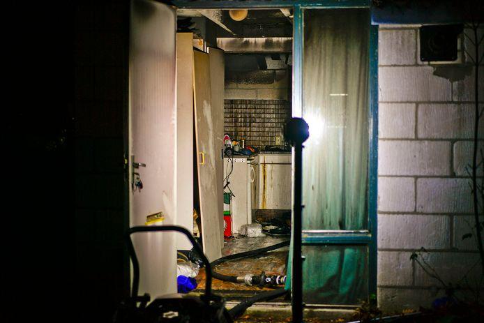 Een man had een pan op het vuur laten staan en is in slaap gevallen.