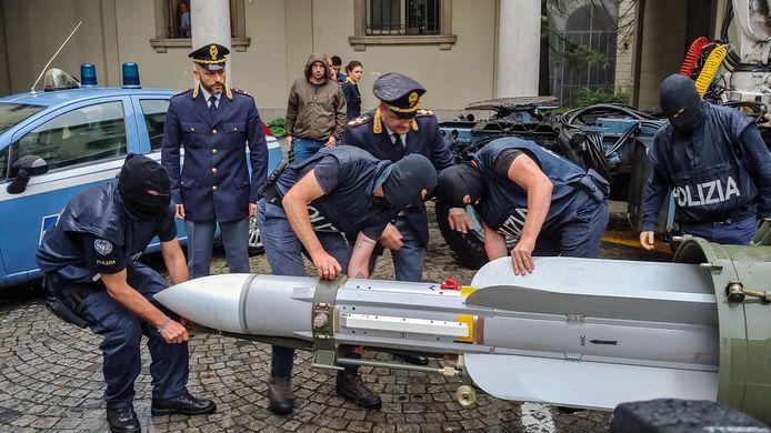 De luchtraket die maandag is aangetroffen bij een groep aanhangers van extreemrechts in de buurt van Italië was ooit van het Qatarese leger.