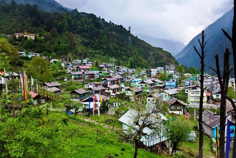 Het dorpje Lachen in de Indiase deelstaat Sikkim.