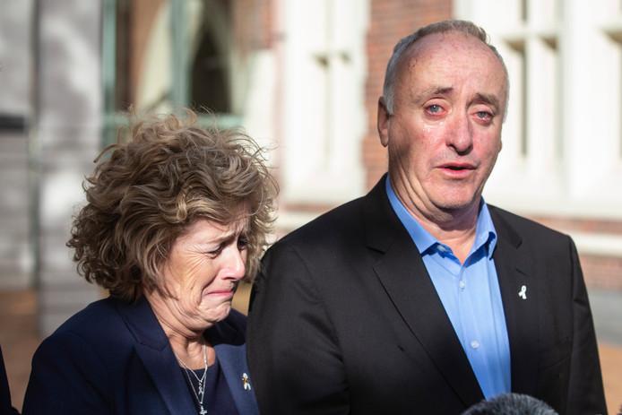 Les parents de Grace, Gillian et Dave Millane, après le procès en novembre.