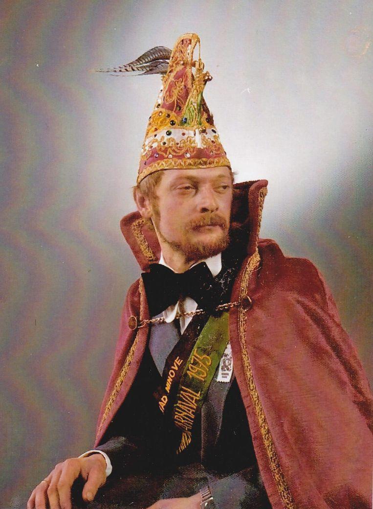 Donald Buyze als prins carnaval Ninove in 1975.