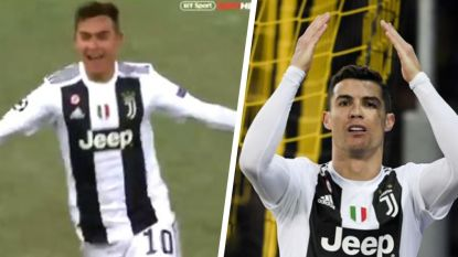 """Juventus-fans zijn even niet blij met Ronaldo na afgekeurde goal Dybala: """"Waarom doe je dat nu, Cristiano?"""""""