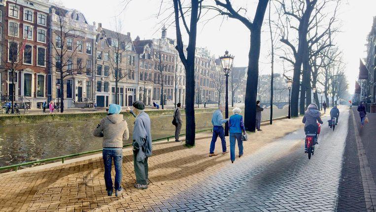 Met een wandelpad is er 'eindelijk rust en ruimte om op je gemak naar de architectuur te kijken'. Beeld BADIN/Andrej Badin