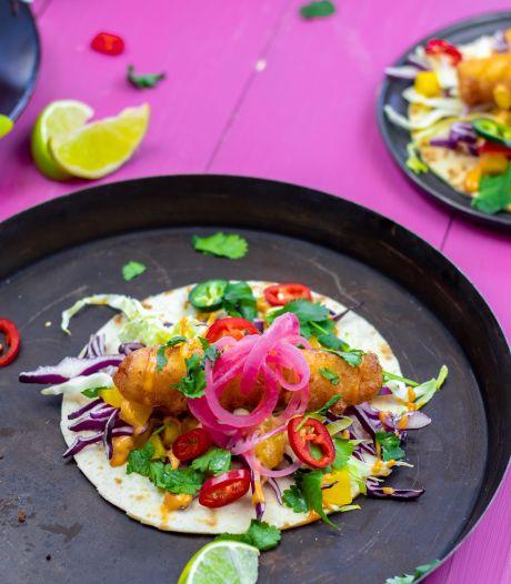 Wat Eten We Vandaag: Baja vistortilla's met chipotle-mayonaise