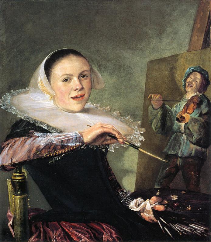 Judith Leyster, Zelfportret, ca. 1640. In 2016 in Den Haag, Mauritshuis.