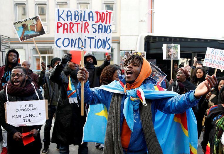 Congolezen betogen tegen het regime van Joseph Kabila, in december vorig jaar.