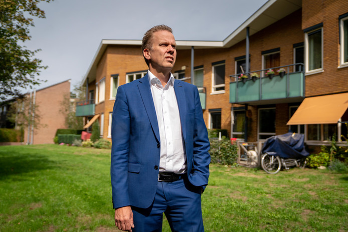Directeur Frank van der Eijnden bij Het Schild, woonzorgvoorziening voor blinden en slechtzienden.