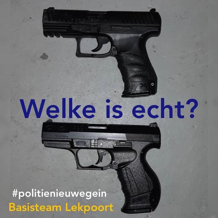 De politie ging maandag af op twee kinderen die met een vuurwapen aan het spelen waren in Nieuwegein.
