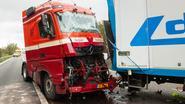 Snelweg drie uur lang afgesloten na ongeval met vier trucks