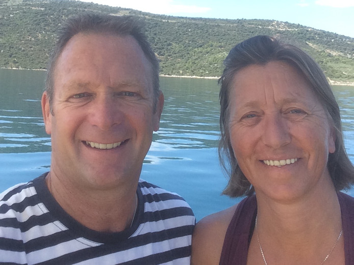 Hans van Trijp met zijn vrouw Nancy.