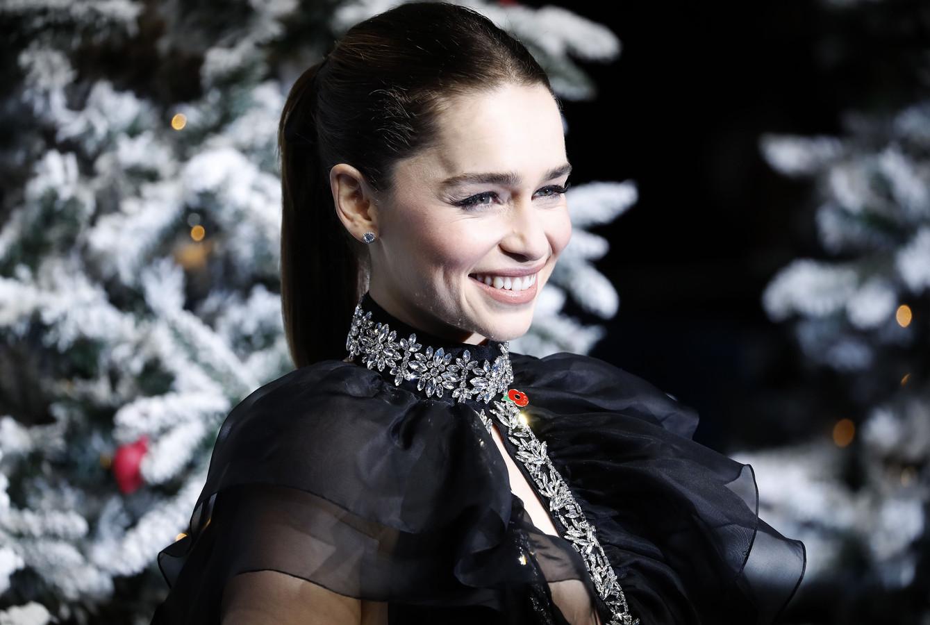 """Emilia Clarke lors de l'avant-première du film """"Last Christmas"""", à Londres, le 11 novembre 2019."""