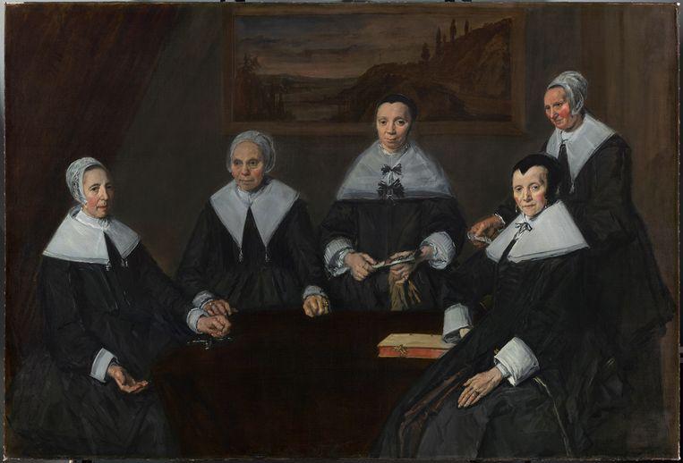 Frans Hals' schilderij van de regentessen na de restauratie. Beeld rv