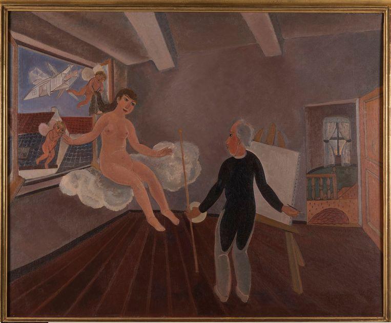 Edgard Tytgat, Inspiratie, 1926, The Poebus Foundation, Antwerpen. Beeld RV