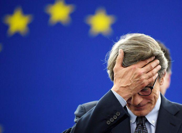 De nieuwe voorzitter van het Europees parlement, David-Maria Sassoli, kan het zelf nog niet geloven.