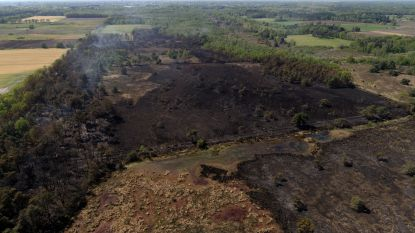 Nog dagen nablussen in afgebrand natuurgebied