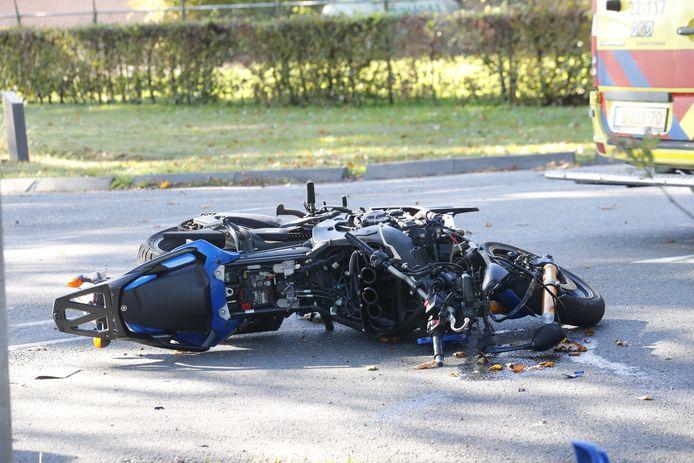 Een motorrijder raakte in september 2018 zwaargewond na een aanrijding met een vrachtwagen.