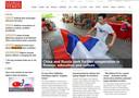 De homepage van de Global Times (woensdagmiddag Nederlandse tijd)