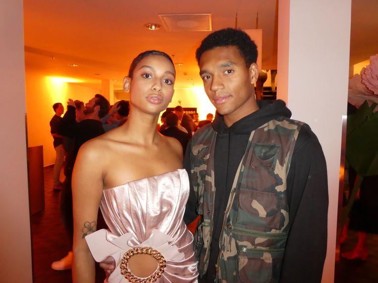 Uma van Hinte en Michael Foru, beiden model. Van Hinte: