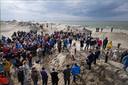 Minister Cora van Nieuwenhuizen van Infrastructuur en Waterstaat hield een toespraak tijdens de officiële opening  van de Marker Wadden.