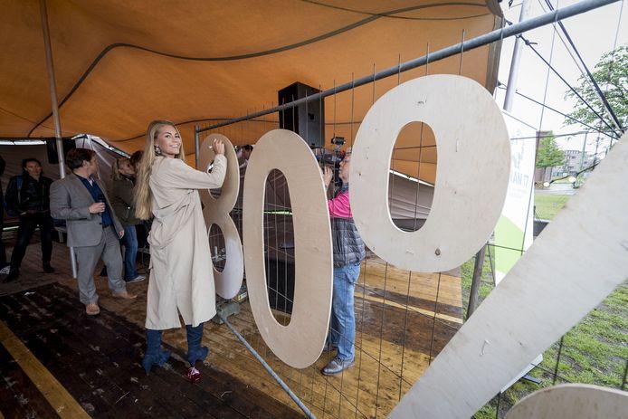 De opening van het D'ran Festival voor de democratie in Enschede.