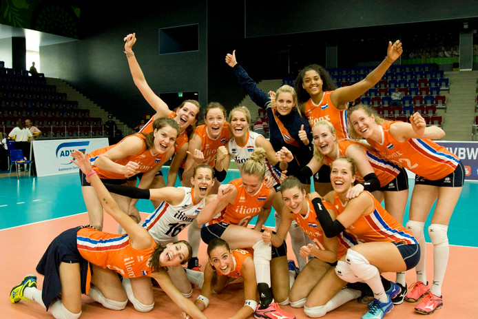 De Nederlandse volleybalsters.