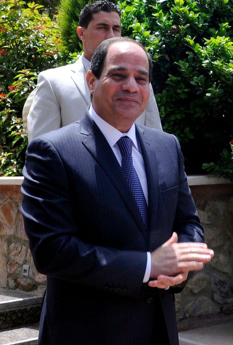 Egyptische president Abdel Fattah al-Sissi. Beeld epa